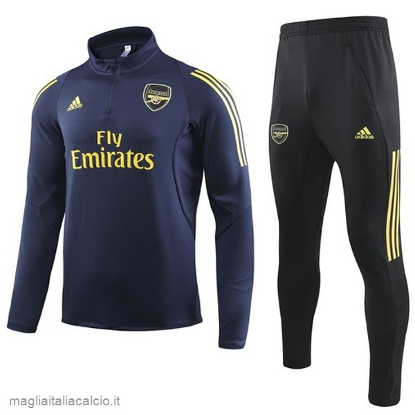 Originale Tuta Calcio Arsenal 2019 2020 Blu Navy Giallo
