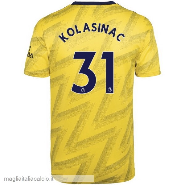 Originale NO.31 Kolasinac Away Maglia Arsenal 2019 2020 Giallo