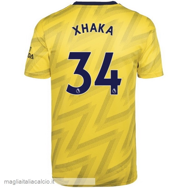 Originale NO.34 Xhaka Away Maglia Arsenal 2019 2020 Giallo