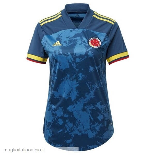 Originale Away Maglie Donna Columbia 2020 Blu