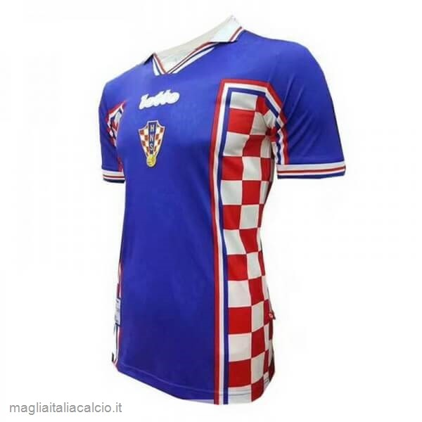 Originale Away Maglia Croacia Retro 1998 Blu