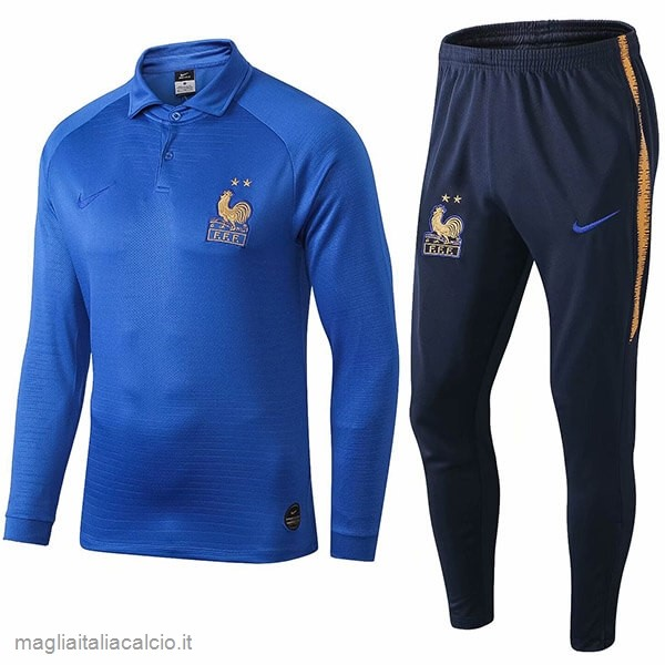 Originale Set Completo Polo Francia 100th Blu