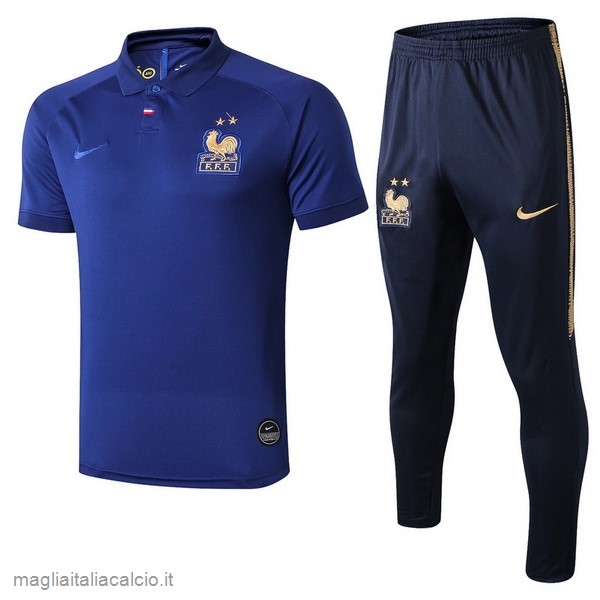 Originale Set Completo Polo Francia 100th Blu Oro