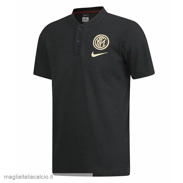 Originale Polo Inter Milán 2019 2020 Nero Giallo