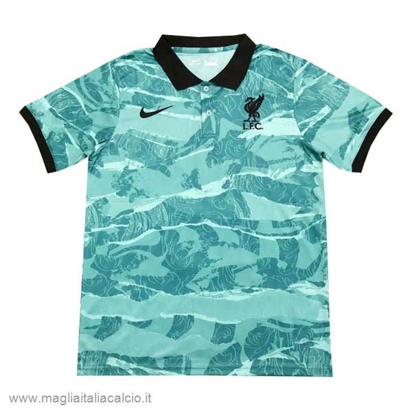 Originale Polo Liverpool 2020 2021 Verde Nero