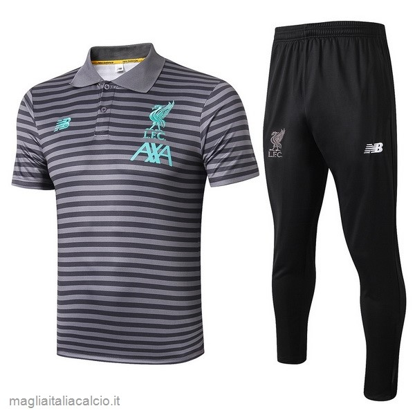 Originale Set Completo Polo Liverpool 2019 2020 Grigio Navy