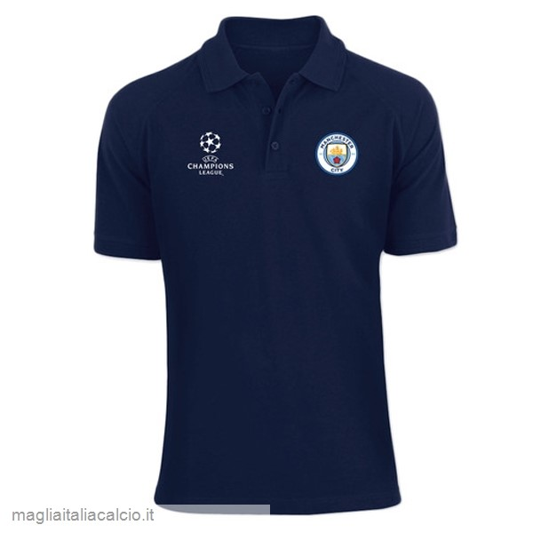 Originale Polo Manchester City 2019 2020 Blu Navy
