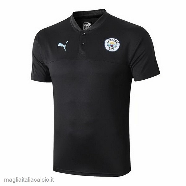 Originale Polo Manchester City 2019 2020 Nero Blu