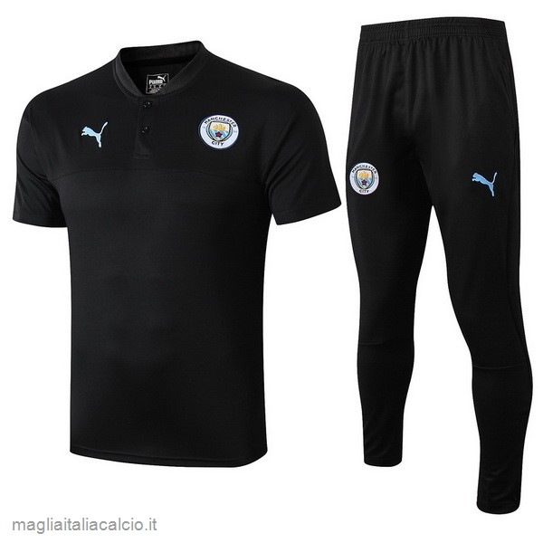 Originale Set Completo Polo Manchester City 2019 2020 Nero