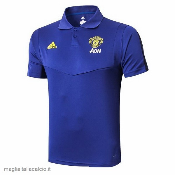 Originale Polo Manchester United 2019 2020 Blu