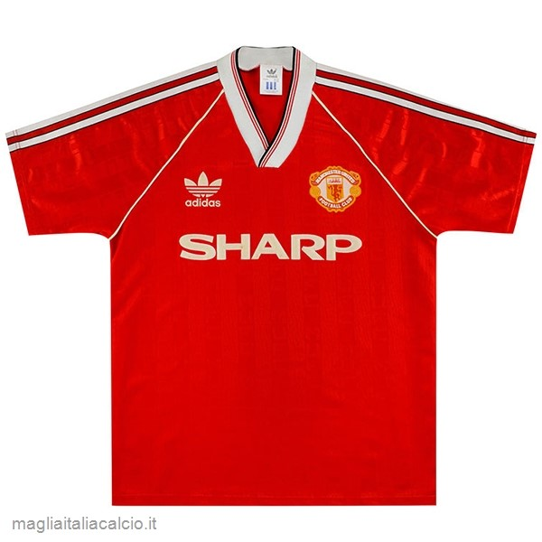 Originale Home Maglie Manchester United Rétro 1988 1990 Rosso