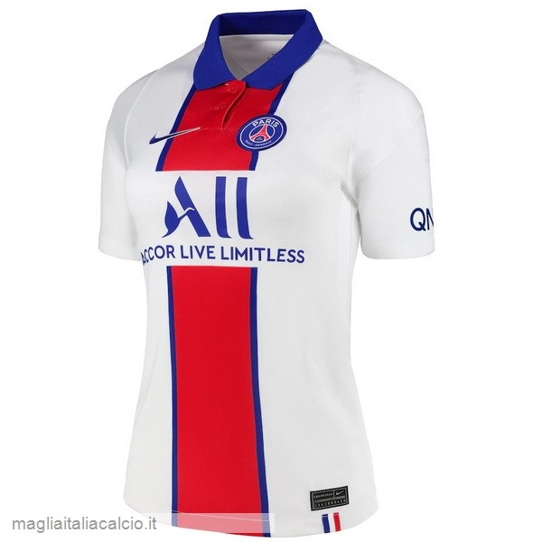Originale Away Maglie Donna Paris Saint Germain 2020 2021 Bianco