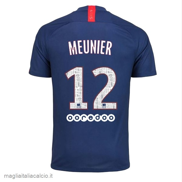 Originale NO.12 Meunier Home Maglia Paris Saint Germain 2019 2020 Blu