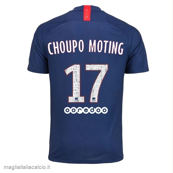 Originale NO.17 Choupo Moting Home Maglia Paris Saint Germain 2019 2020 Blu