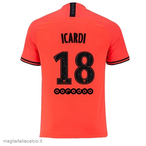 Originale NO.18 Icardi Away Maglia Paris Saint Germain 2019 2020 Oroange