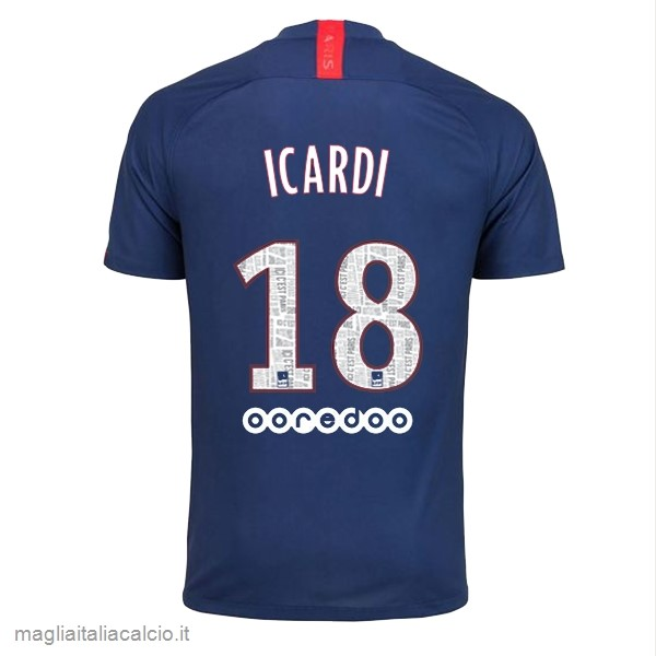 Originale NO.18 Icardi Home Maglia Paris Saint Germain 2019 2020 Blu