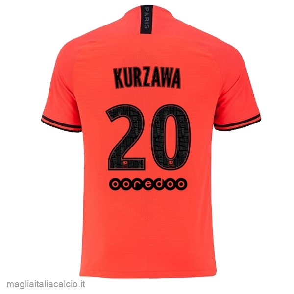 Originale NO.20 Kurzawa Away Maglia Paris Saint Germain 2019 2020 Oroange