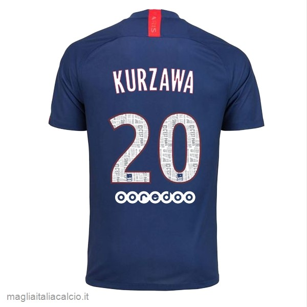 Originale NO.20 Kurzawa Home Maglia Paris Saint Germain 2019 2020 Blu