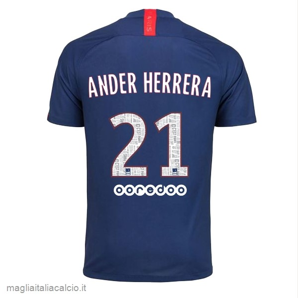 Originale NO.21 Ander Herrera Home Maglia Paris Saint Germain 2019 2020 Blu