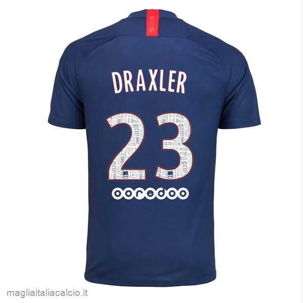 Originale NO.23 Draxler Home Maglia Paris Saint Germain 2019 2020 Blu