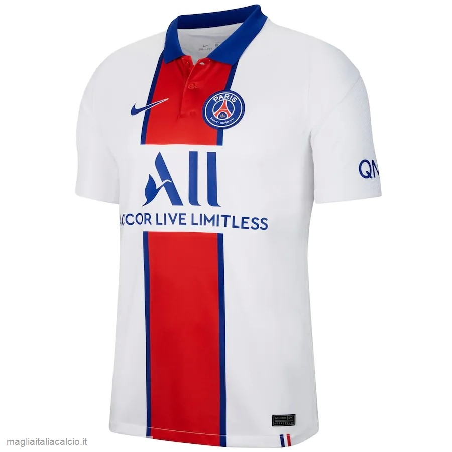 Originale Thailandia Away Maglie Paris Saint Germain 2020 2021 Bianco