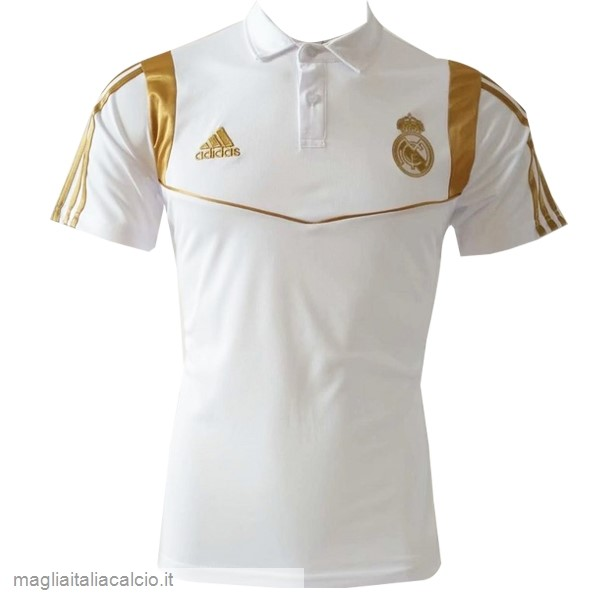 Originale Polo Real Madrid 2019 2020 Bianco Oro