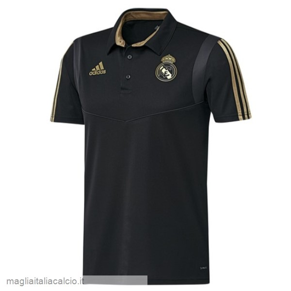 Originale Polo Real Madrid 2019 2020 Nero Giallo
