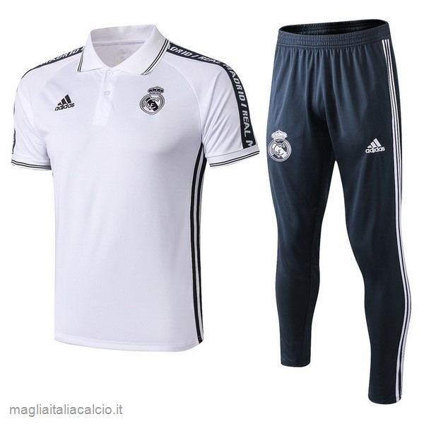 Originale Set Completo Polo Real Madrid 2019 2020 Bianco