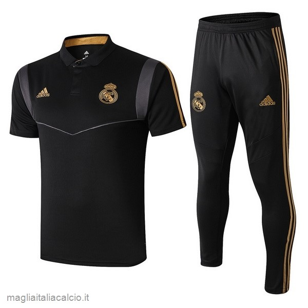 Originale Set Completo Polo Real Madrid 2019 2020 Nero Grigio