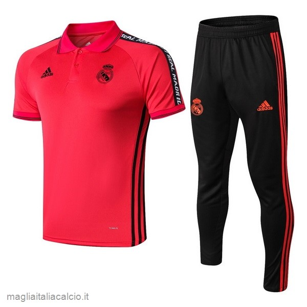 Originale Set Completo Polo Real Madrid 2019 2020 Rosso Nero
