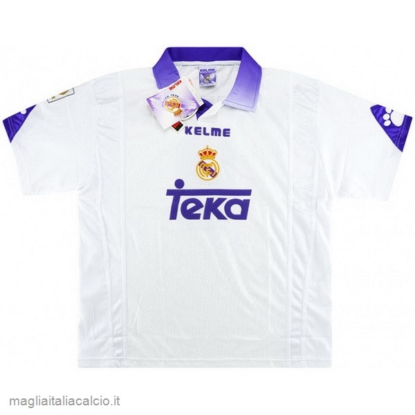 Originale Home Maglie Real Madrid Rétro 1997 1998 Bianco