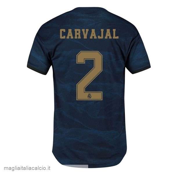 Originale NO.2 Carvajal Away Maglia Real Madrid 2019 2020 Blu