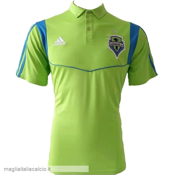 Originale Polo Seattle Sounders 2019 2020 Verde Fluoroescente