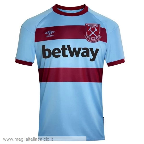 Originale Away Maglia West Ham United 2020 2021 Blu